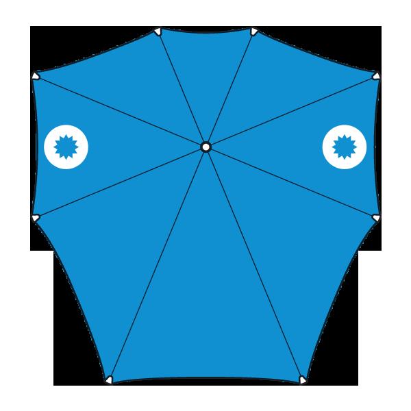 opvouwbare senz-paraplu bedrukken